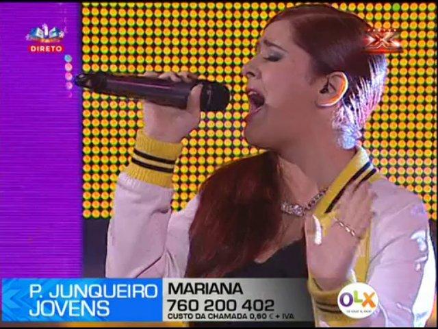 Photo of Mariana deu um espetáculo de Miley Cyrus no Factor X