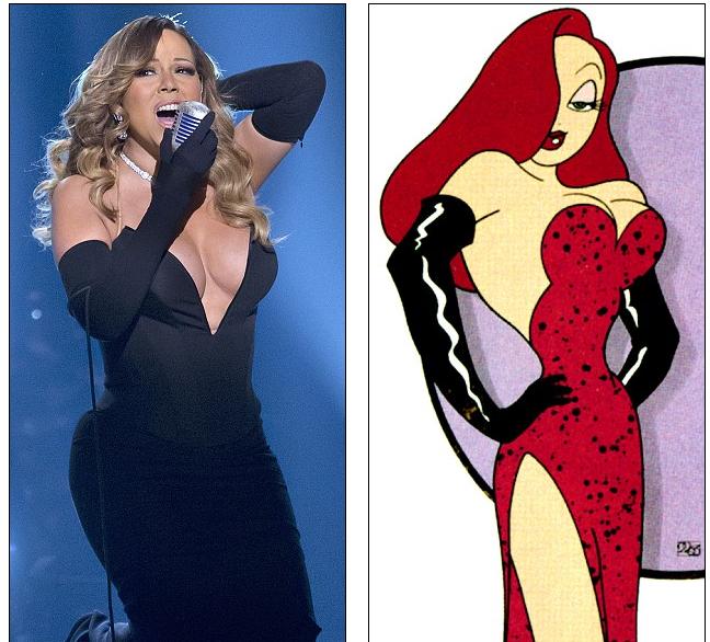 Photo of Mariah Carey usa um decote ousado