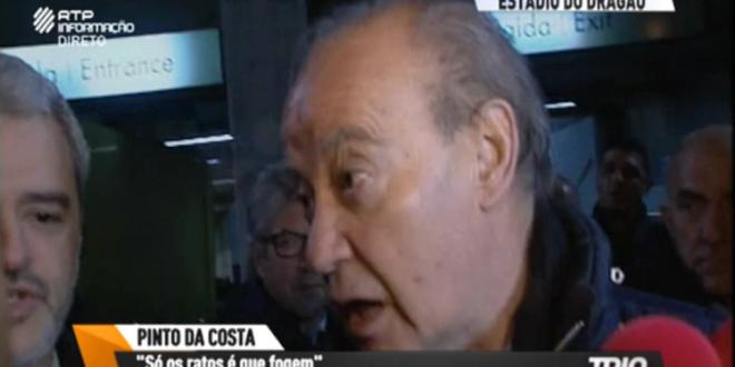 Photo of Pinto da Costa perde a cabeça com um jornalista (Vídeo)
