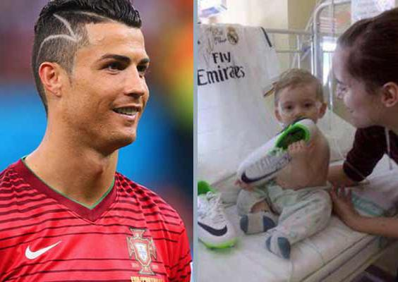Photo of Cristiano Ronaldo não cortou o cabelo para ajudar criança