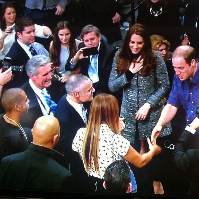 Photo of Beyoncé e Jay Z conhecem Kate Middleton e Príncipe William num jogo de basket
