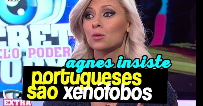 Photo of Agnes Arabela insiste no Extra que os Portugueses são xenófobos