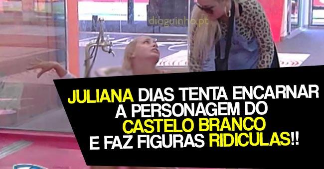 Photo of Juliana Dias tenta encarnar a personagem do Castelo Branco fazendo figuras ridículas