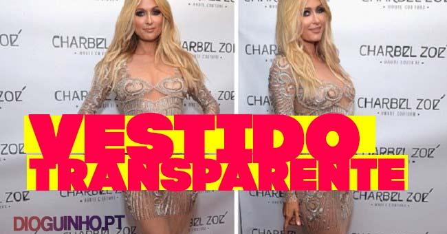 Photo of Paris Hilton vai a evento com vestido transparente