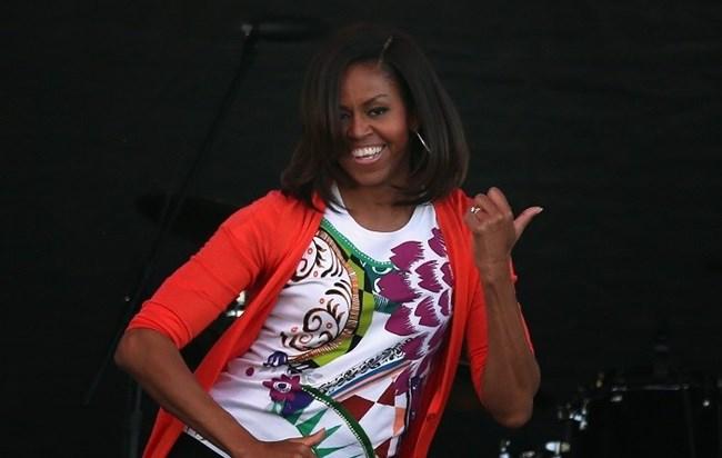 Photo of Michelle Obama dançou novamente  'Uptown Funk'