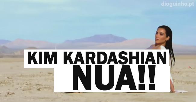 Photo of Kim Kardashian NUA em sessão fotografica