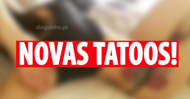 Photo of Daniela Duarte com pouca roupa para mostrar as tatuagens novas