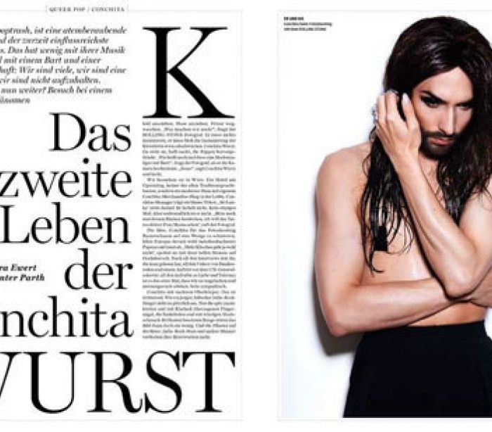 "Photo of Conchita aparece em ""semi nu"" em revista alemã"
