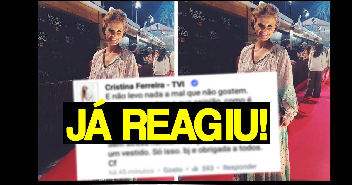 Photo of Cristina Ferreira foi arrasada na Festa da TVI