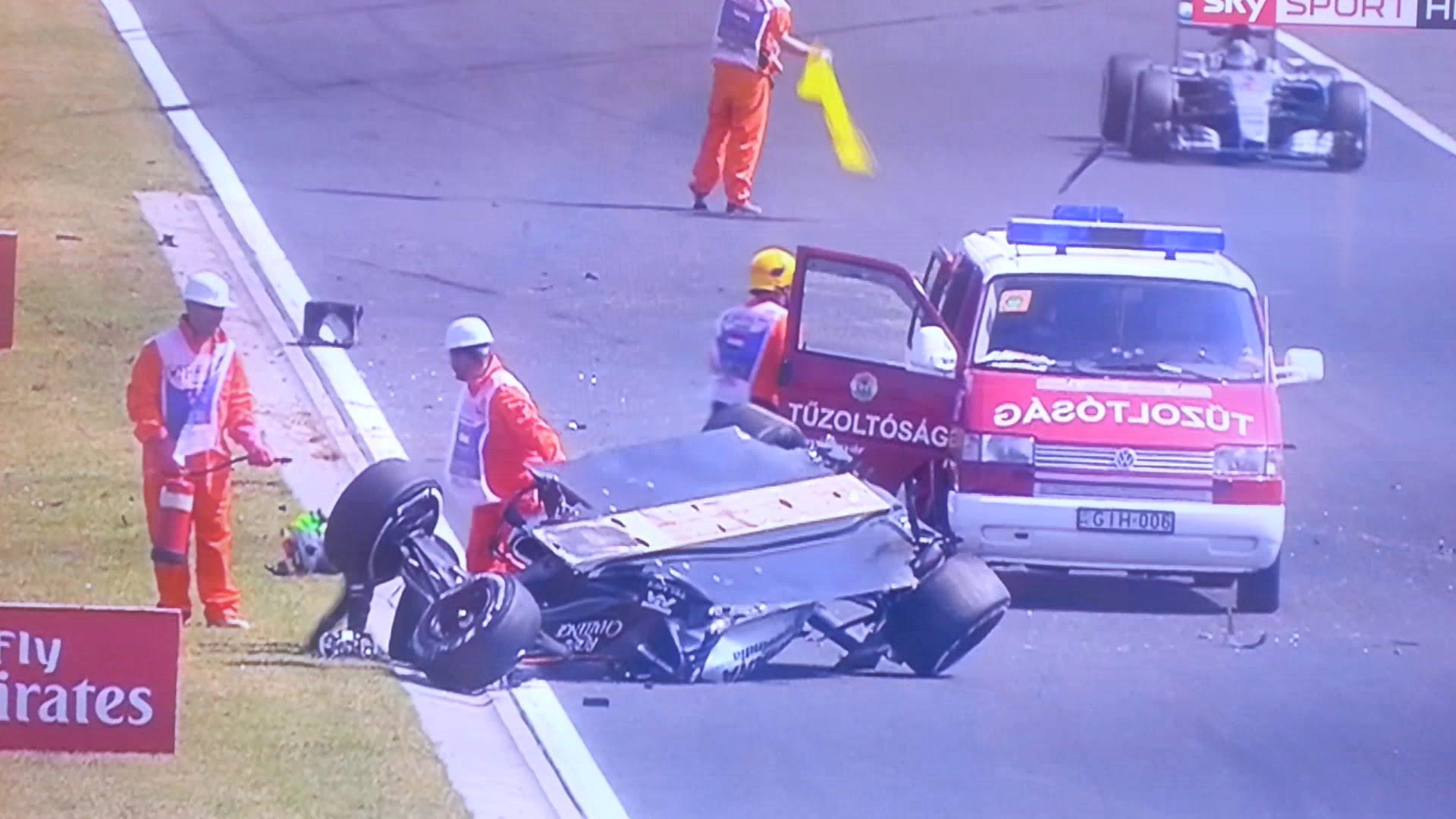 Photo of Sergio Perez tem aparatoso acidente nos treinos do GP da Hungria