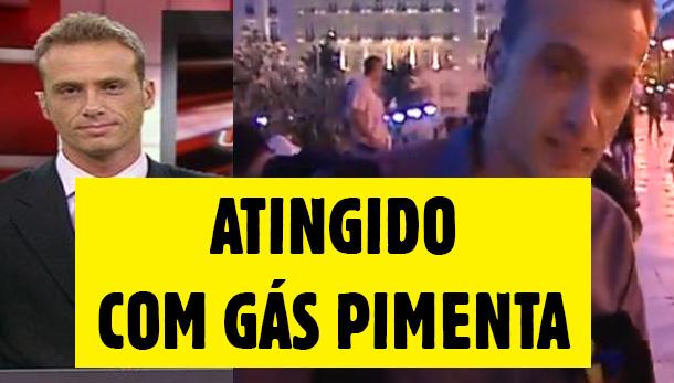 Photo of Jornalista da TVI atingido com gás pimenta nos confrontos da Grécia