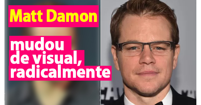 Photo of Matt Damon mudou radicalmente o seu visual