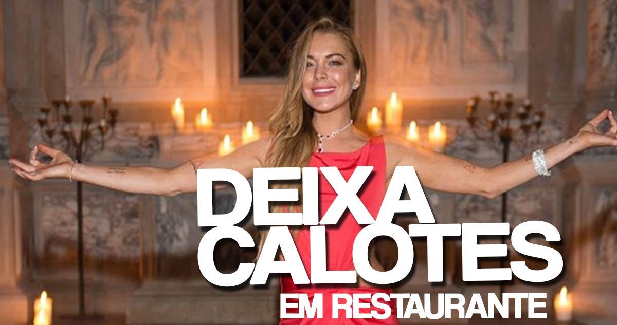 Photo of Lindsay Lohan foge de restaurante sem pagar 1200 euros