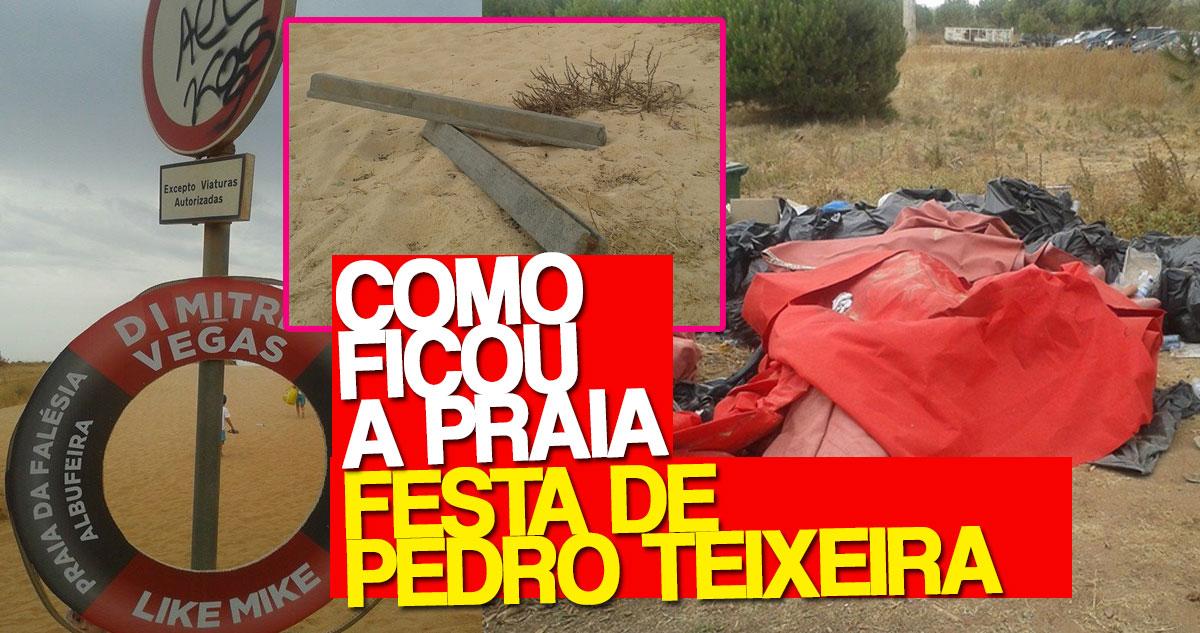 """Photo of Este foi o estado em que ficou a praia da festa """"ilegal"""" de Pedro Teixeira"""