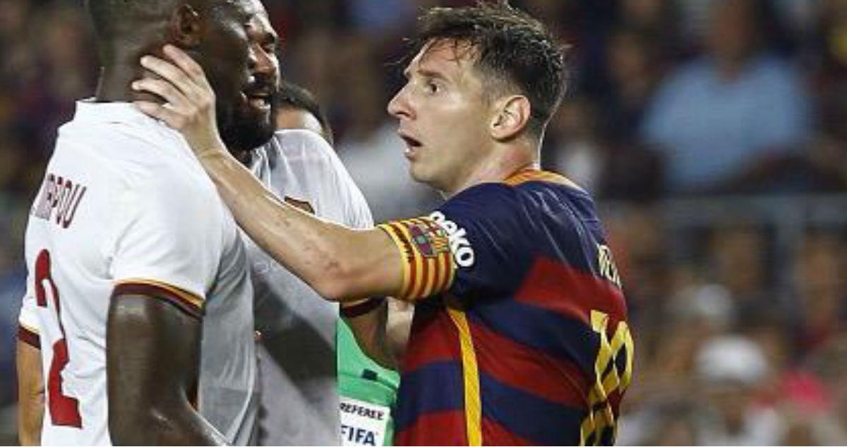 Photo of Leo Messi perde a cabeça e dá cabeçada a jogador do Roma