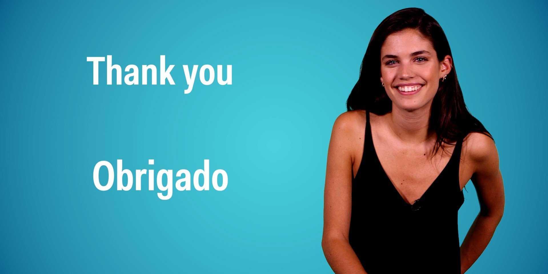 Photo of Sara Sampaio ensina a falar Português