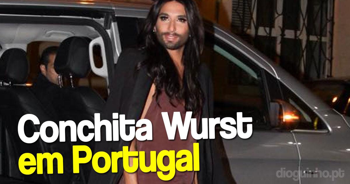 Photo of As primeiras imagens de Conchita Wurst em Portugal