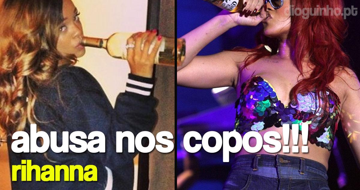 Photo of Rihanna anda a abusar nos 'copos'