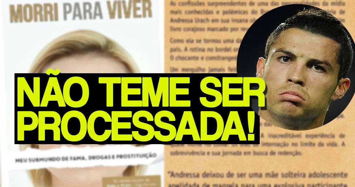 Photo of Andressa Urach vai falar de Cristiano Ronaldo na sua biografia