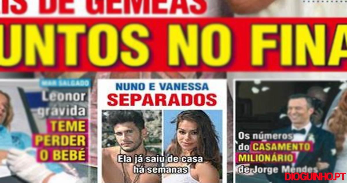 Photo of Nuno Mota e Vanessa Ferreira acabaram o namoro