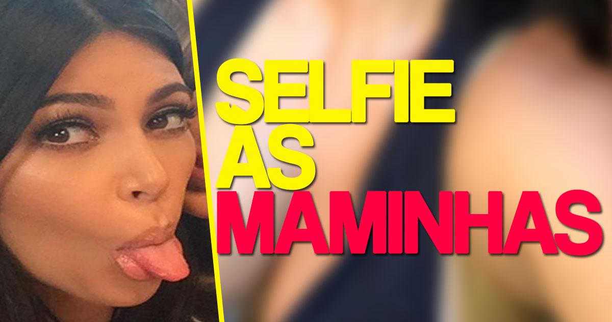 Photo of Kim Kardashian comemora 42 milhões de seguidores com selfie… às maminhas