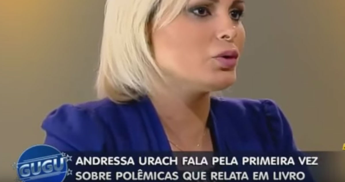 Photo of Andressa Urach dá entrevista ao Programa do Gugu onde fala de todo o seu passado