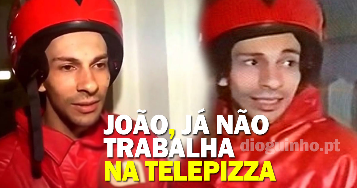 Photo of Fica a conhecer o rapaz da telepizza, o João!