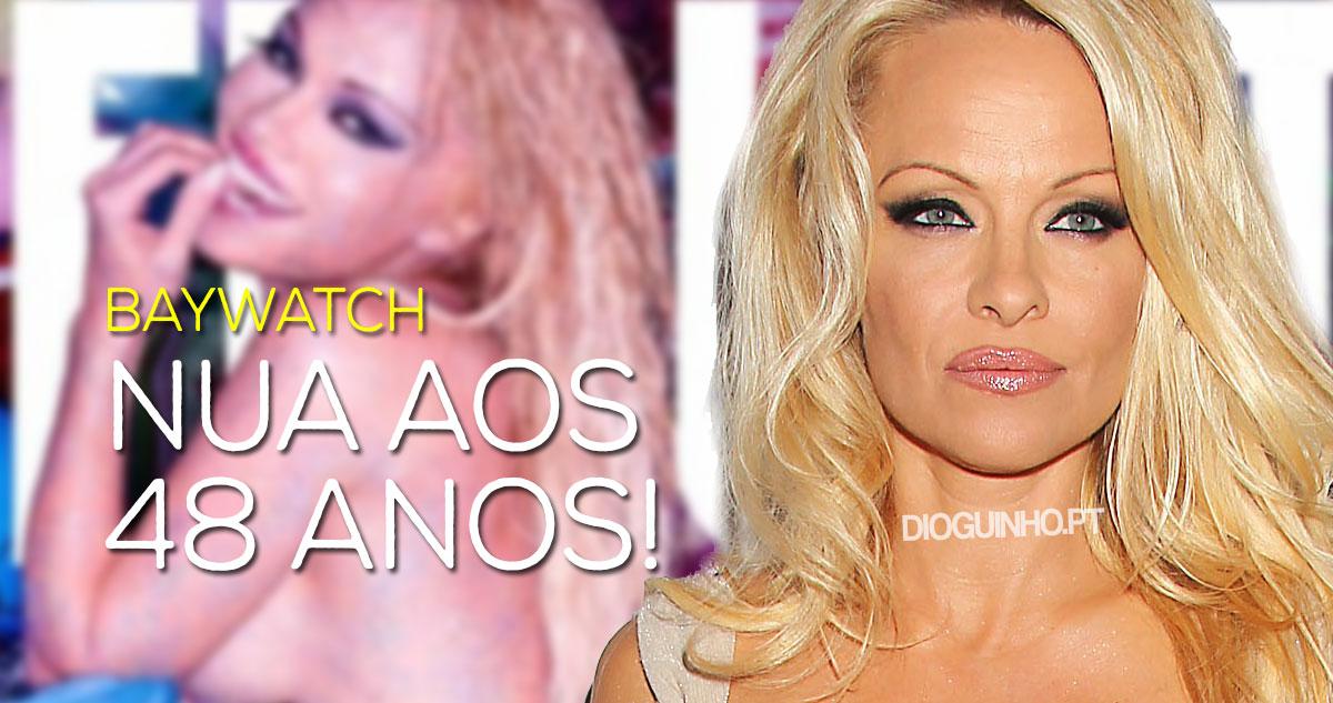 Photo of Pamela Anderson despiu-se para uma revista aos 48 anos
