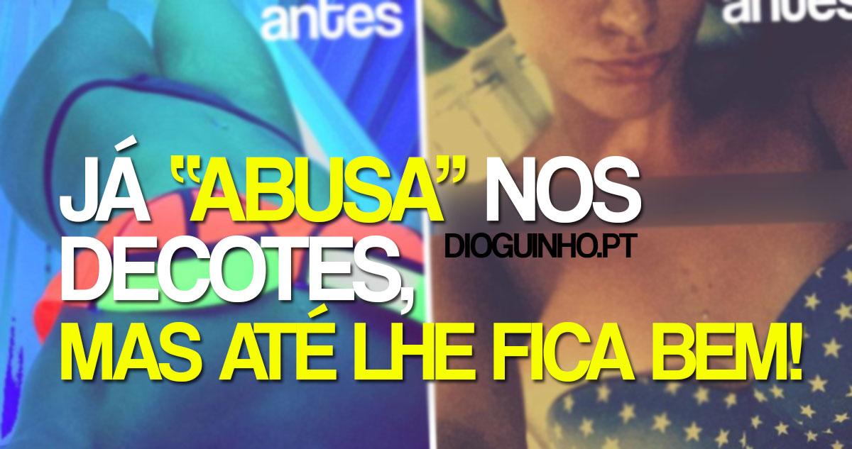 Photo of Cristiana Dionísio já pode abusar nos decotes com as novas maminhas…