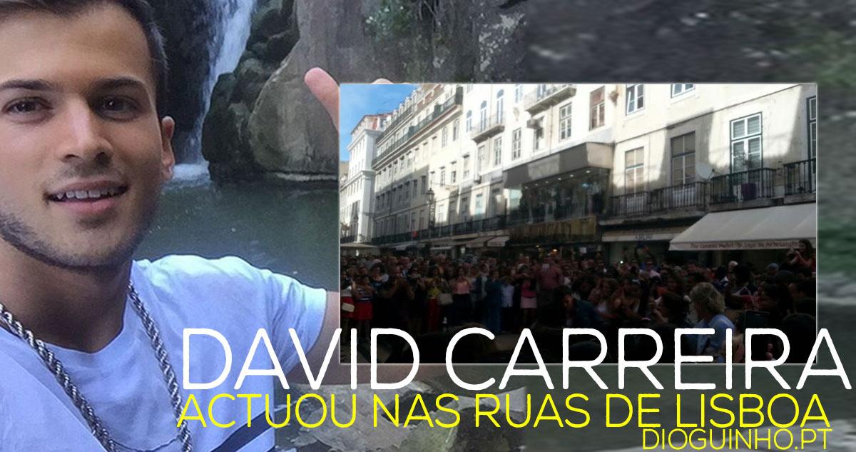 Photo of David Carreira actua nas ruas de Lisboa e leva dezenas de fãs à loucura