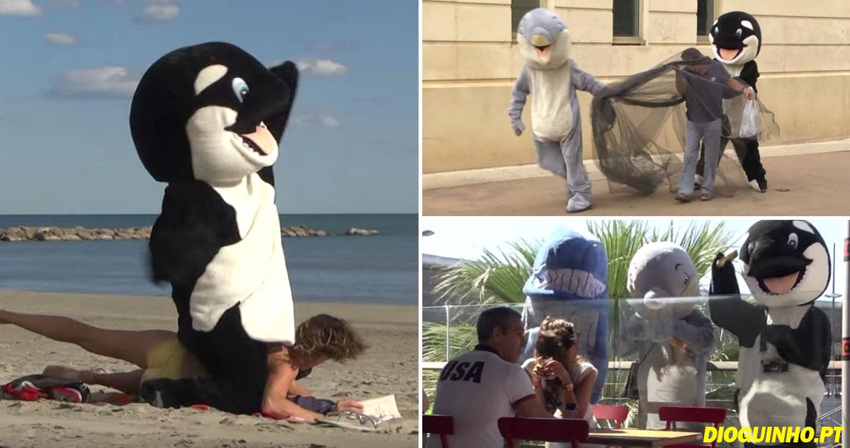 Photo of Rémi Gaillard faz aos humanos aquilo que nós fazemos aos animais (vídeo)