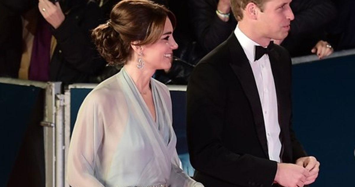 Photo of Kate Middleton usou um vestido que mais parecia uma cortina