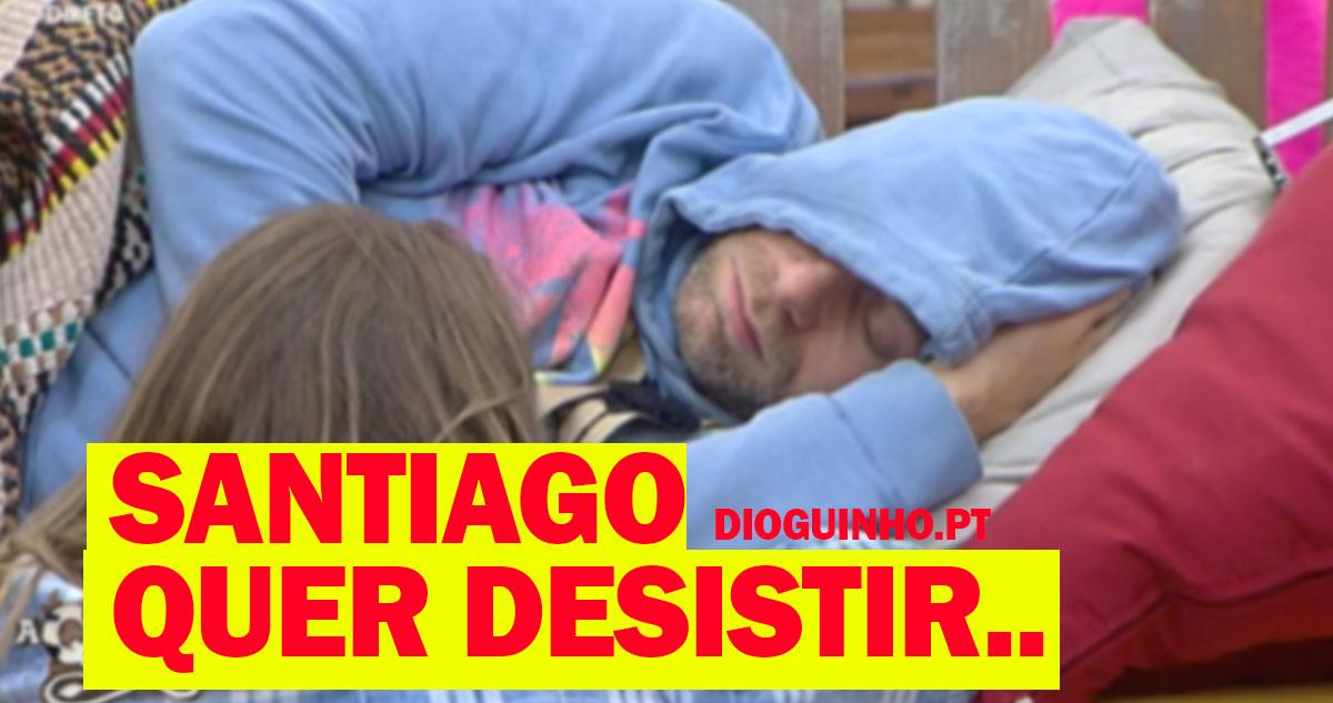 Photo of Santiago quer desistir, e 'chora' no ombro de Romana