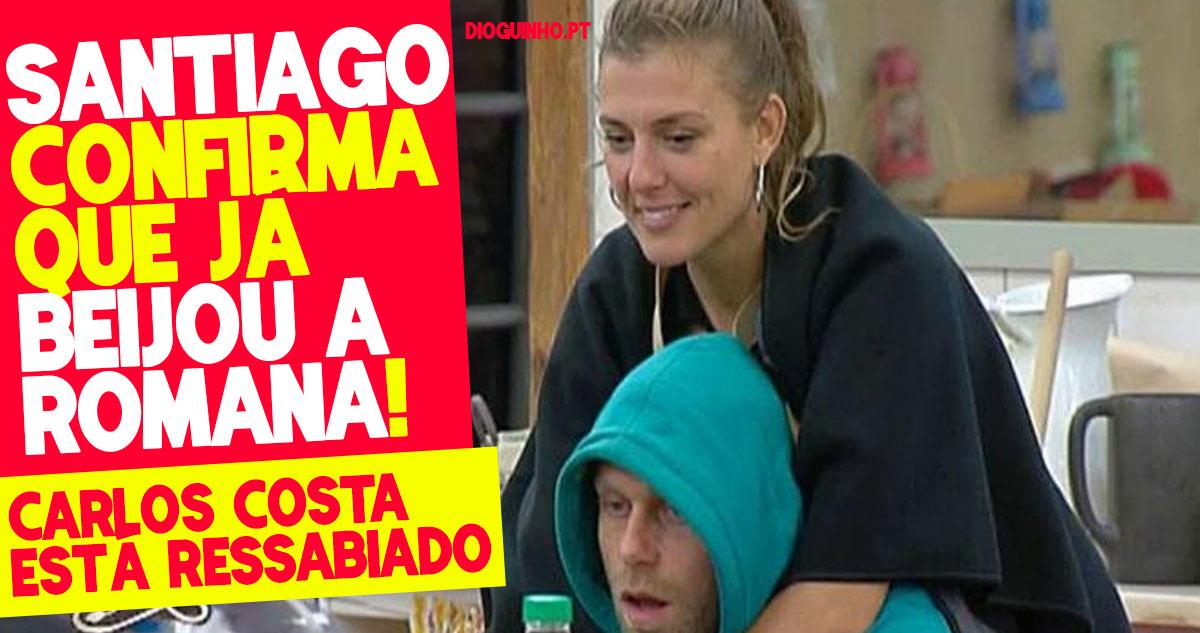 Photo of Santiago confirma que beijou a Romana, e Carlos costa está ressabiado