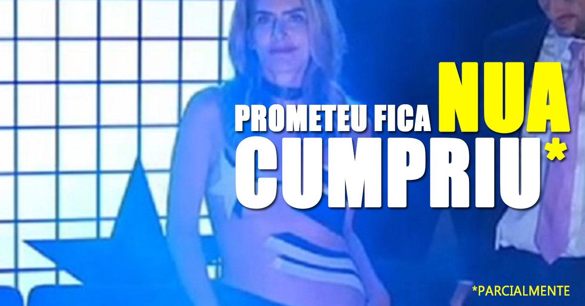 """Maitê Proença cumpriu promessa e fica""""nua"""" em televisão"""