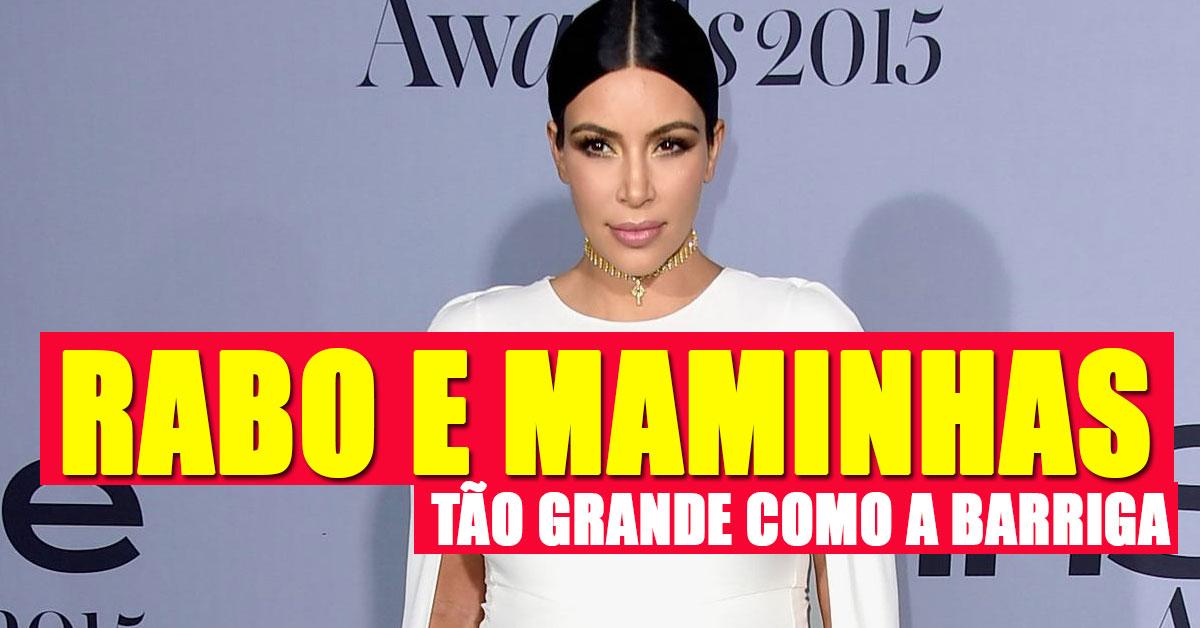 Kim Kardashian tem tanto de rabo e maminhas