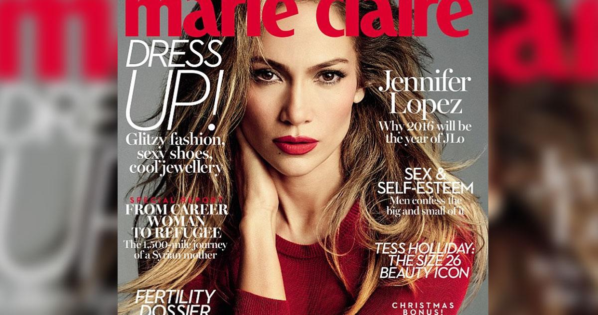 Photo of Jennifer Lopez é a capa da revista Marie Claire. Sensual, e muito photoshop