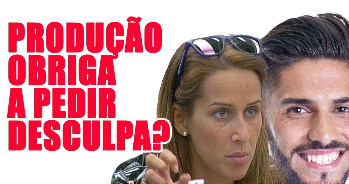 Photo of Quinaz pede desculpa, mas Érica acusa de ser obrigado pela produção