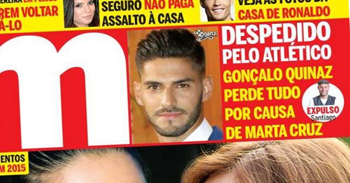 Photo of Gonçalo Quinaz foi despedido do Atlético por causa da Marta Cruz