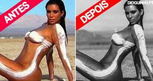 Kim Kardashian fez uma sessão fotográfica NUA