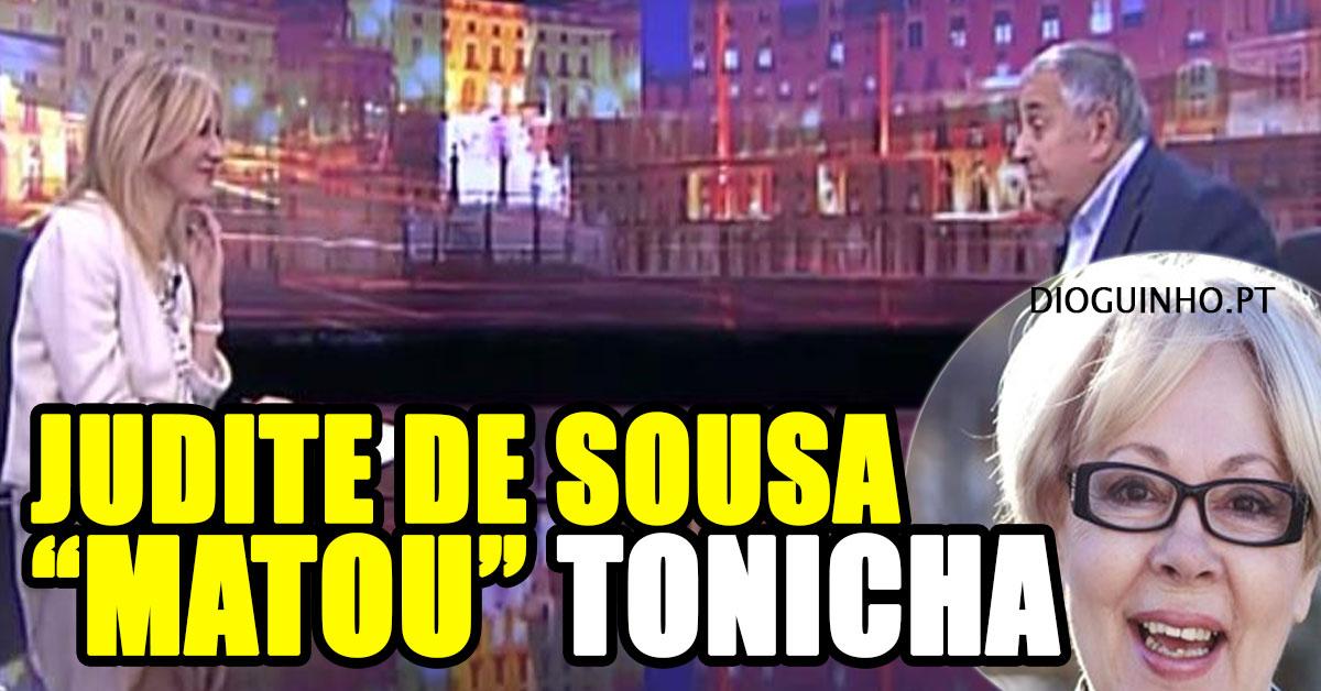 """Photo of BARRACO: Judite de Sousa """"matou"""" Tonicha em entrevista"""
