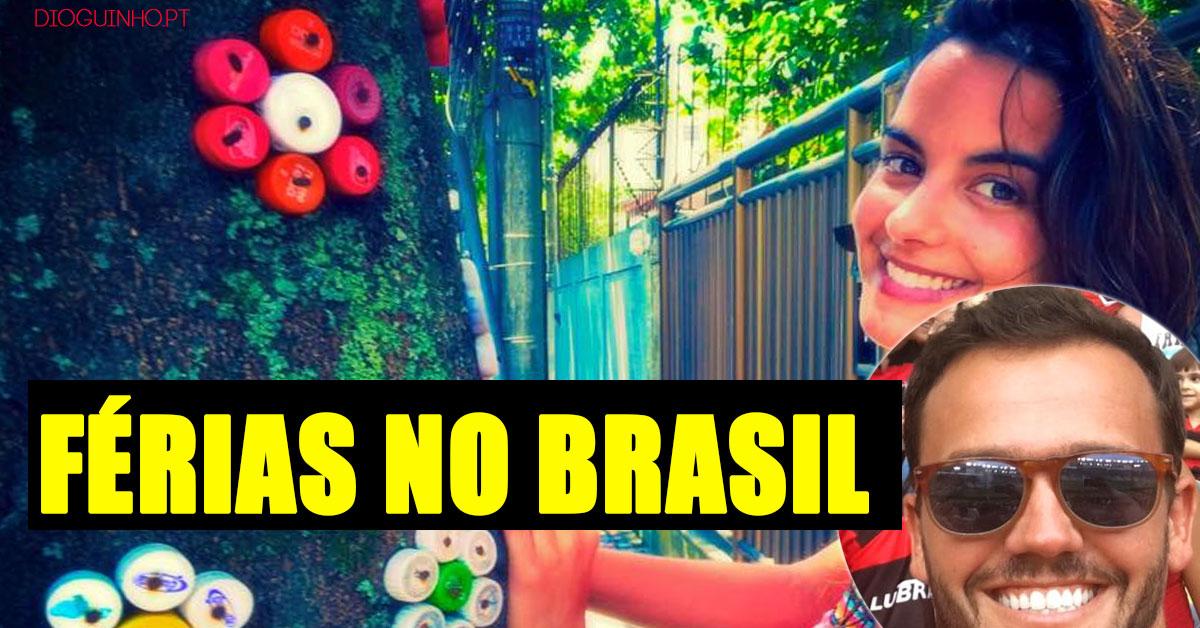 """Photo of Sara Matos e Pedro Teixeira em férias """"secretas"""" no Brasil"""