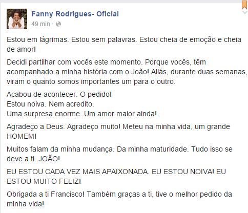 Fanny está Noiva