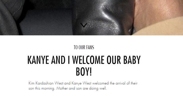 Nasce segundo filho de Kim Kardashian e Kanye West