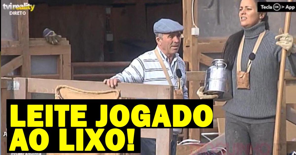 Photo of Produção diz aos concorrentes para deitar leite para o lixo!