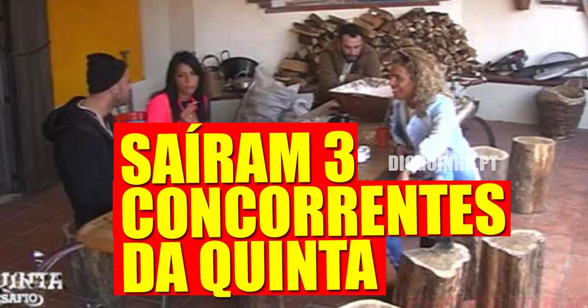 Photo of Três concorrentes saíram da Quinta