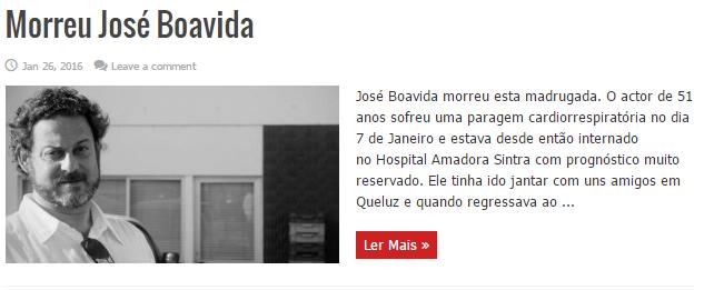 José Boavida morreu esta madrugada