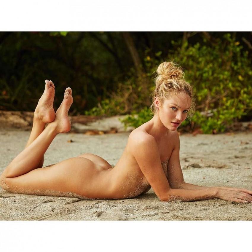 Candice Swanepoel posa completamente nua