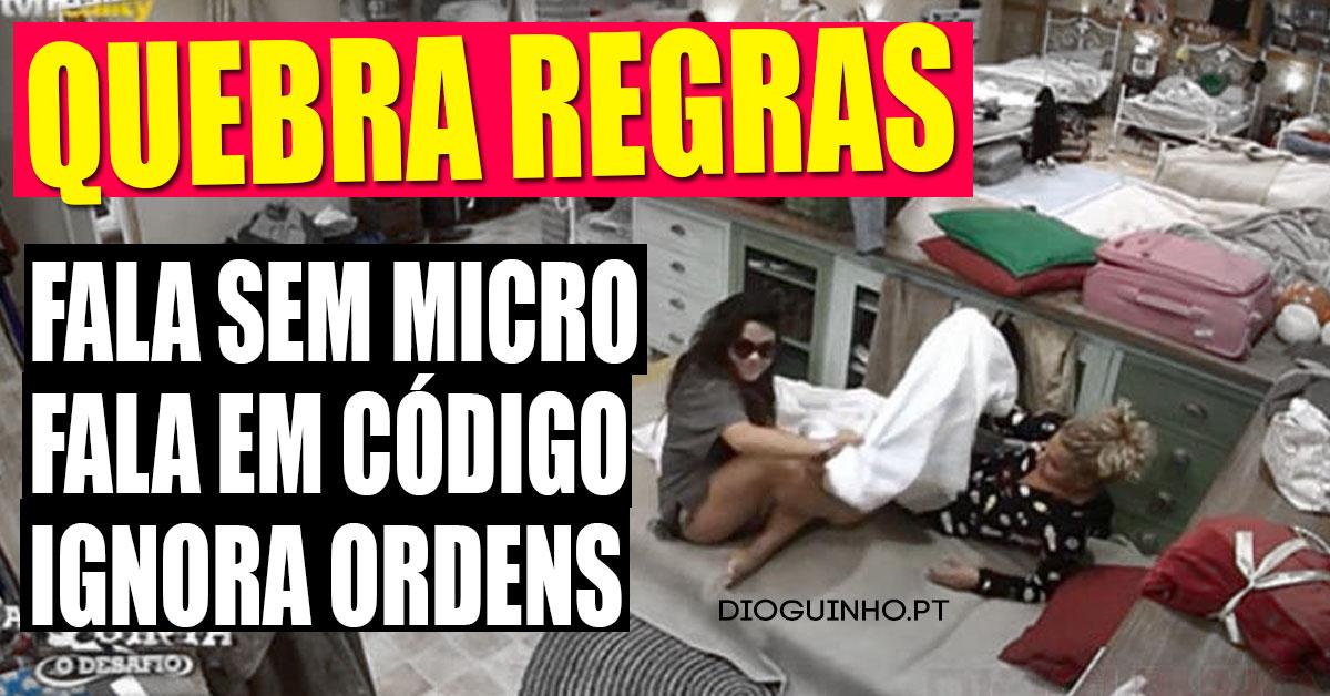 Photo of Angélica Jordão em cumplicidade com o Tiago Ginga. QUEBRA REGRAS da QUINTA