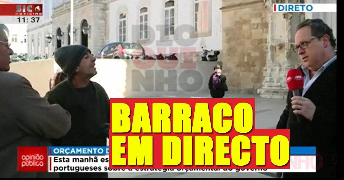 Photo of Empurrões a jornalista da SIC Noticias em directo
